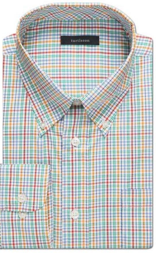 Turtleson Barnaby Plaid Perf. LS Shirt MS18W08