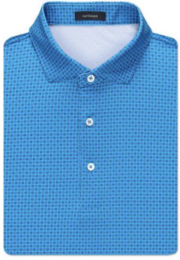 Turtleson Gibson Circle Jacquard Perf. SS Polo MF19K04