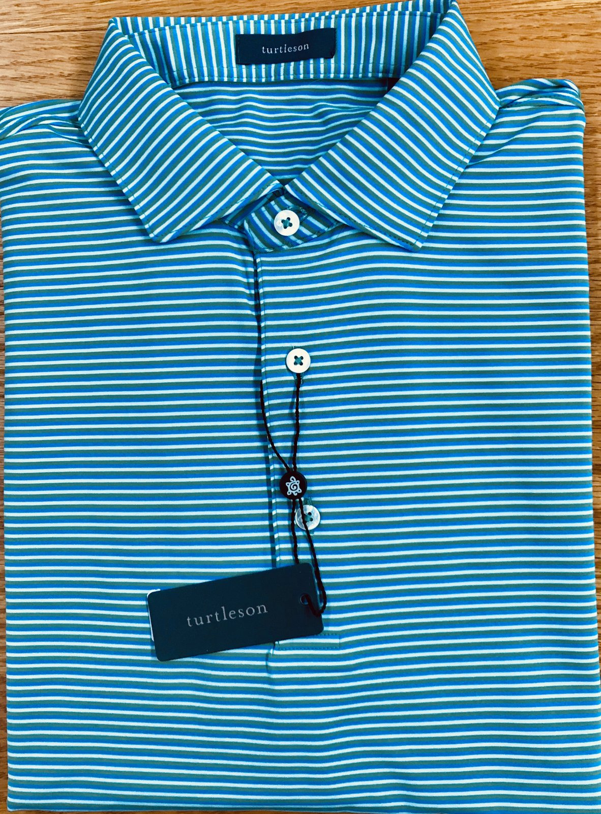 Turtleson Conner Stripe Perf. SS Polo MF19K03