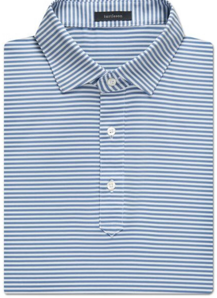 Turtleson Classic Stripe Perf. SS Polo MS18K07