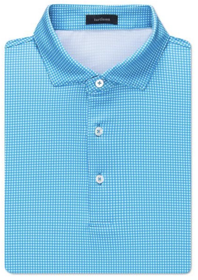 Turtleson Nicholas Houndstooth Perf. SS Polo MF10K03