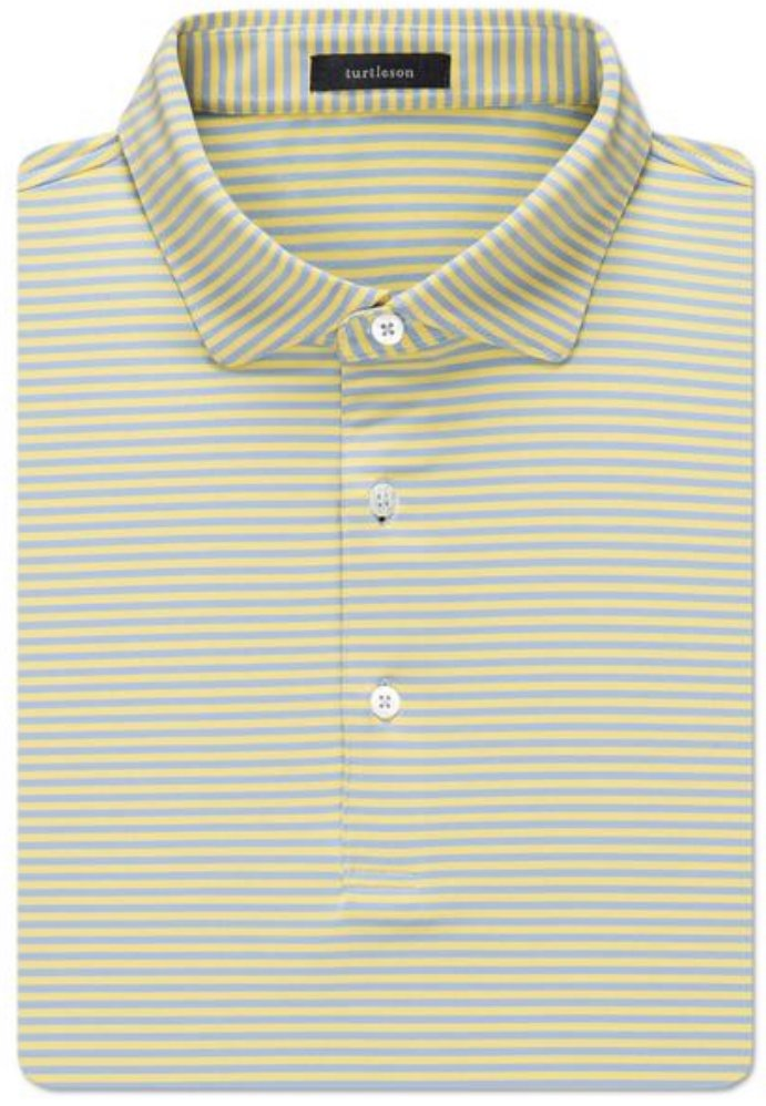 Turtleson Edward Stripe Perf. SS Polo MF19K17