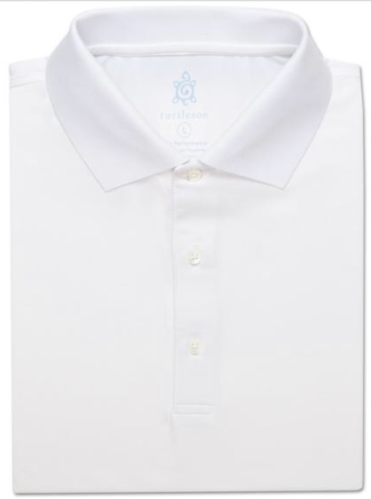 Turtleson Men's Tour Perf. Jersey Solid Classic Collar MS14K03