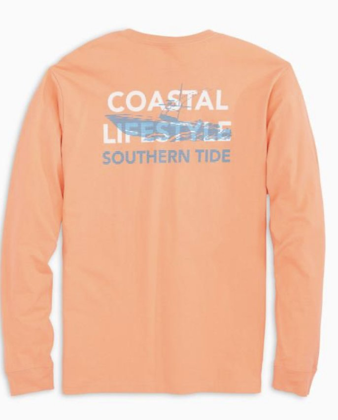 Southern Tide LS Center Console Tee 6285