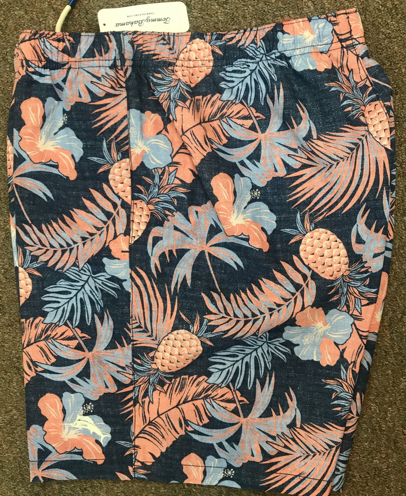 Tommy Bahama Naples MIdnight Coral Swim Trunk ST924552