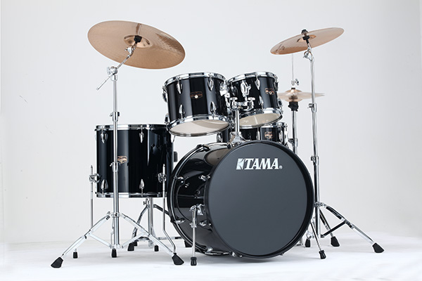 Tama Imperialstar Complete Drum Set - 5-piece - 20 Kick - Hairline Black