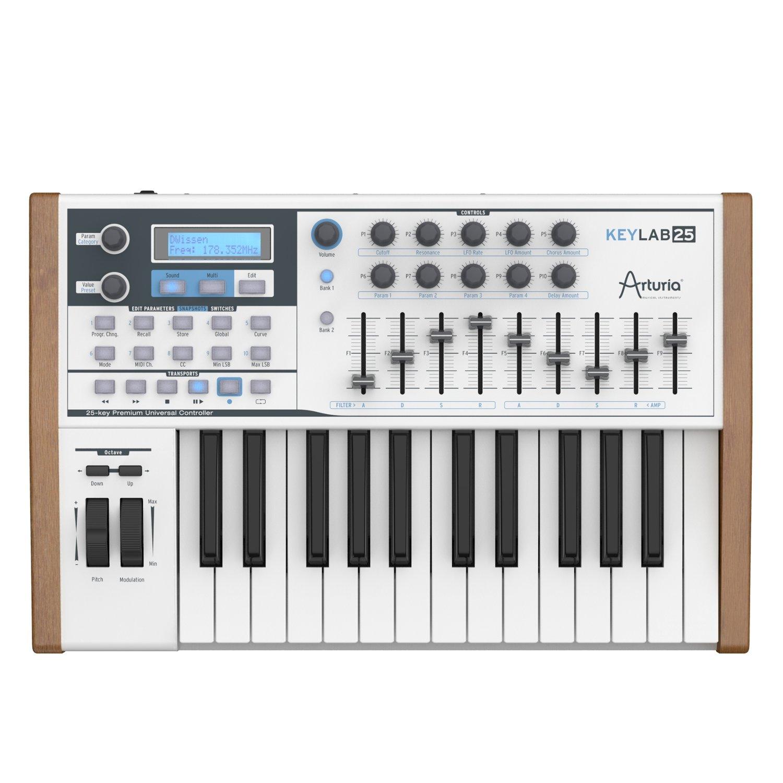 Arturia KeyLab 25 Note MIDI Keyboard w Software