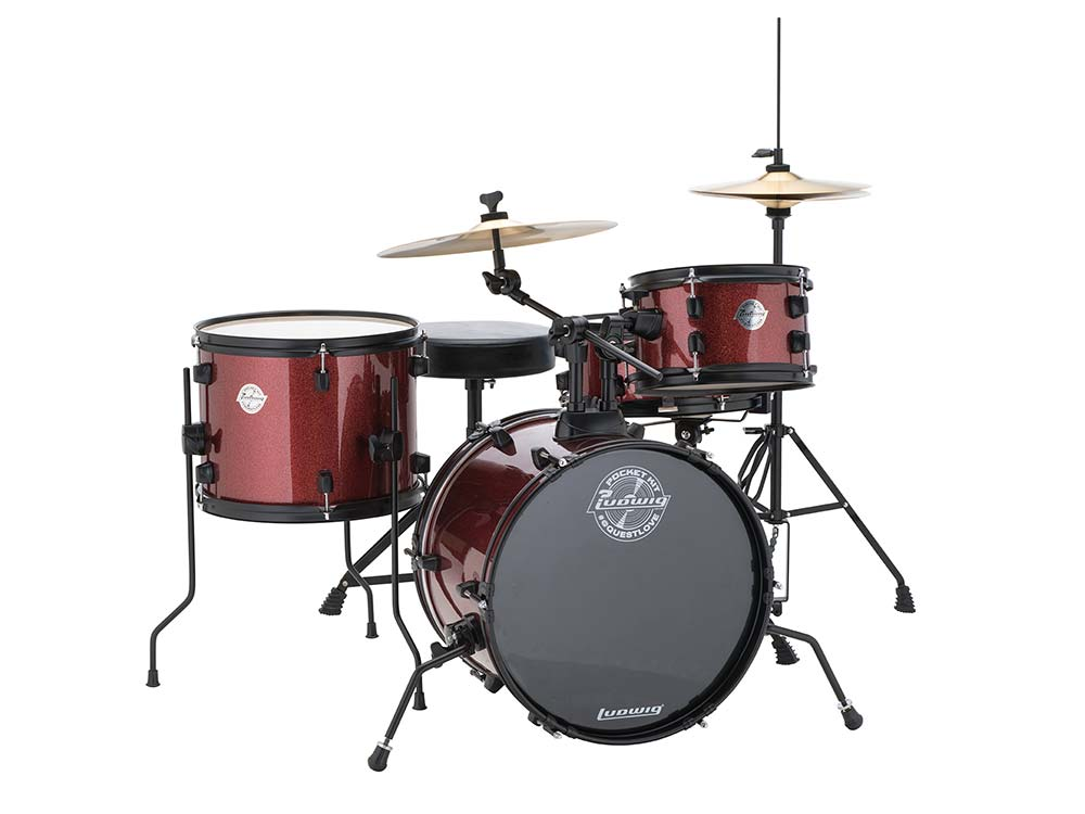 Ludwig Pocket Drum Set Red Sparkle