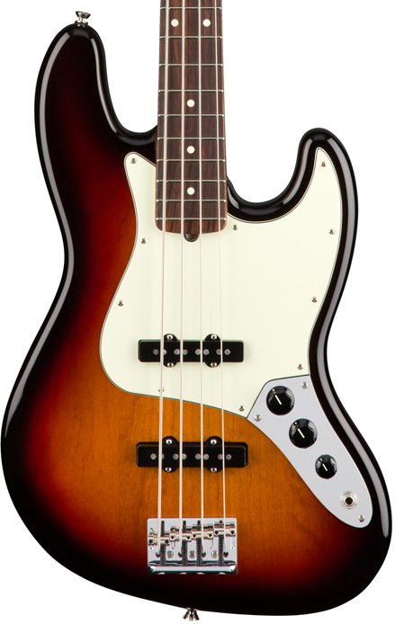 Fender American Professional Jazz Bass - 3 Color Sunburst with Rosewood Fingerboard