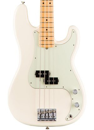Fender American Professional Precision Bass - Olympic White with Maple Fingerboard