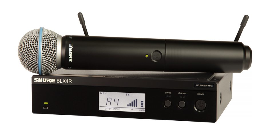 Shure BLX24R/B58 Handheld Wireless System (Rackmountable)