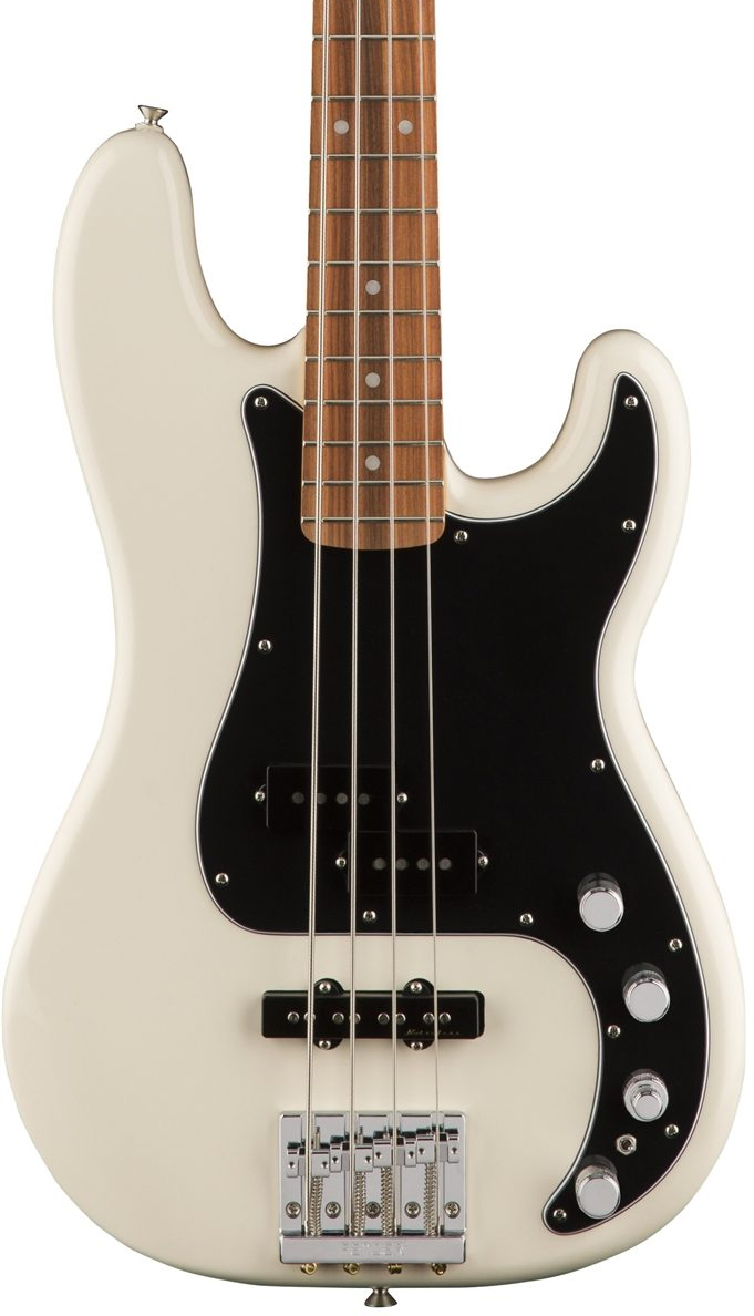 Fender Deluxe Active Precision Bass Special - Olympic White with Pau Ferro Fingerboard