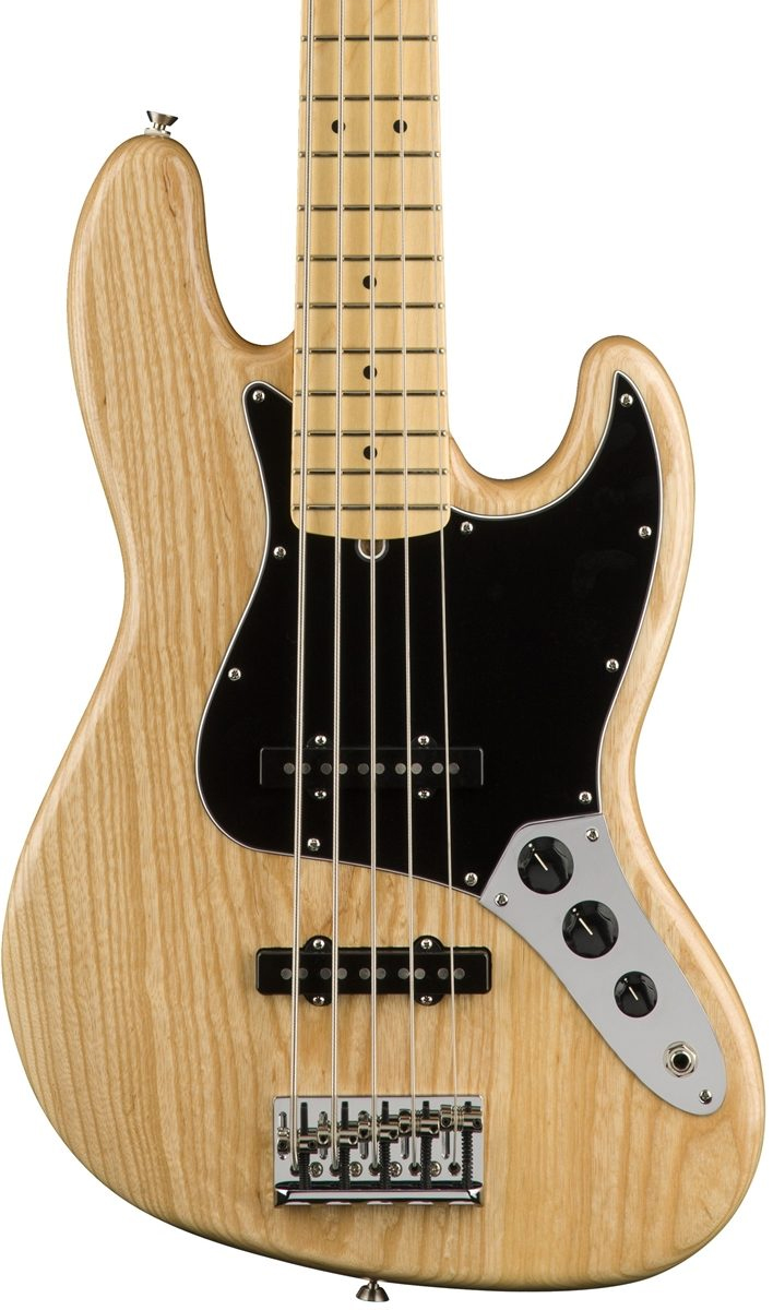 Fender American Professional Jazz Bass V Ash - Natural with Maple Fingerboard