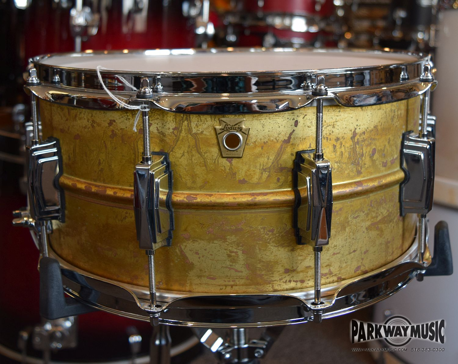 Ludwig Raw Brass Phonic 6 1/2 x 14 snare