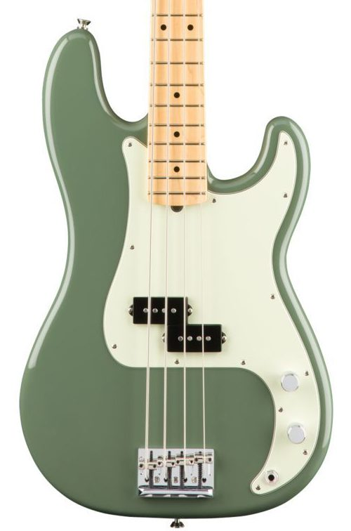 Fender American Professional Precision Bass - Antique Olive with Maple Fingerboard