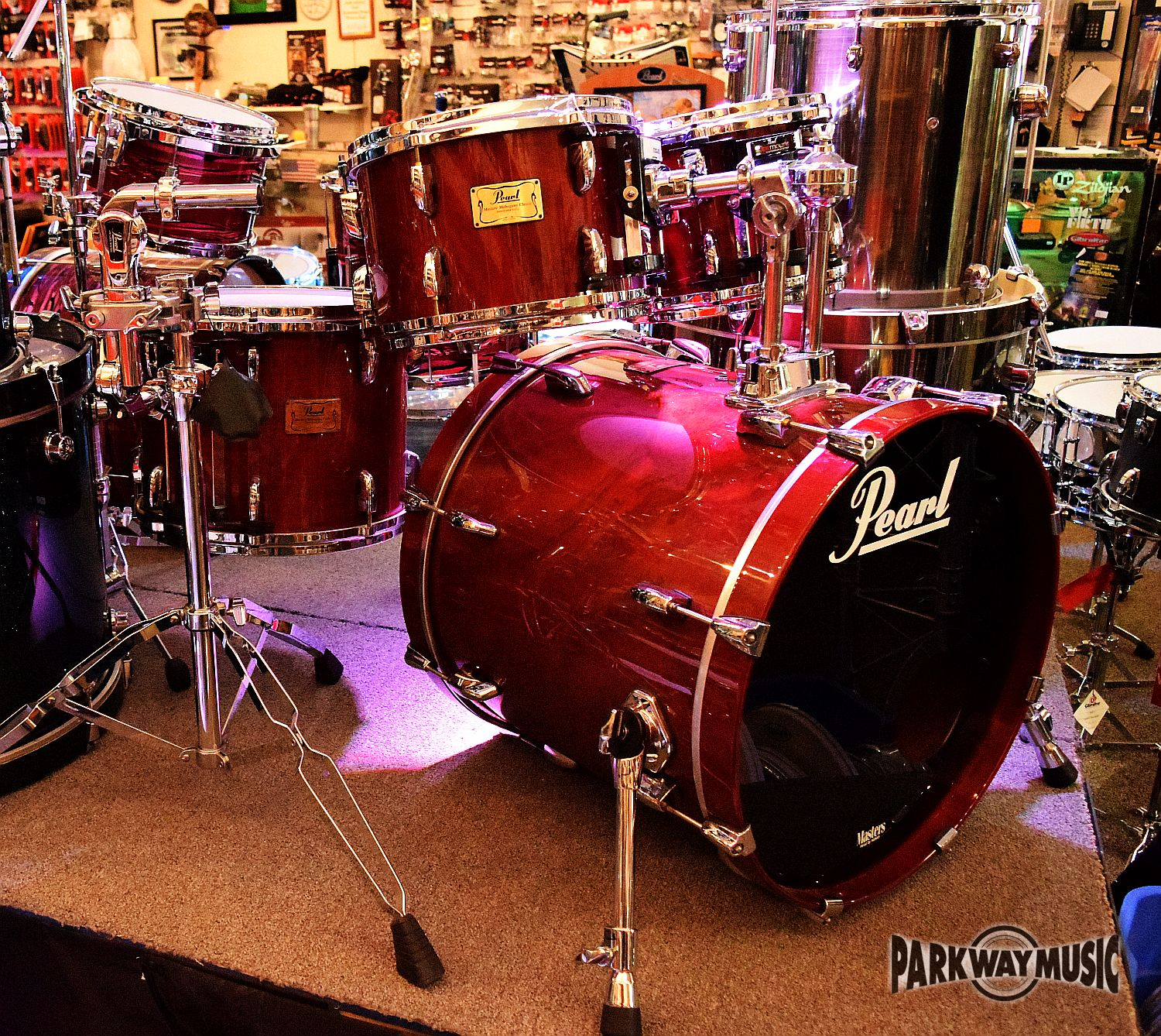 Pearl Masters Mahogany 4pc Drum Set (USED)