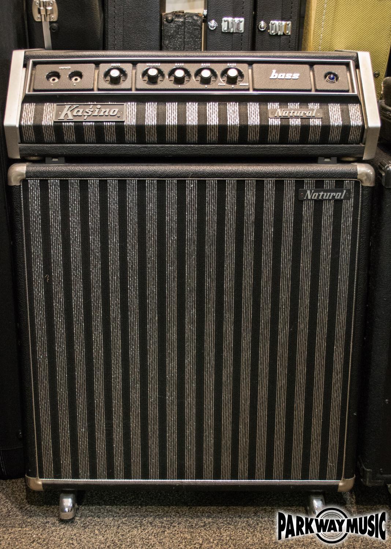Kustom Kasino 150 Natural Bass Head and Cabinet (USED)