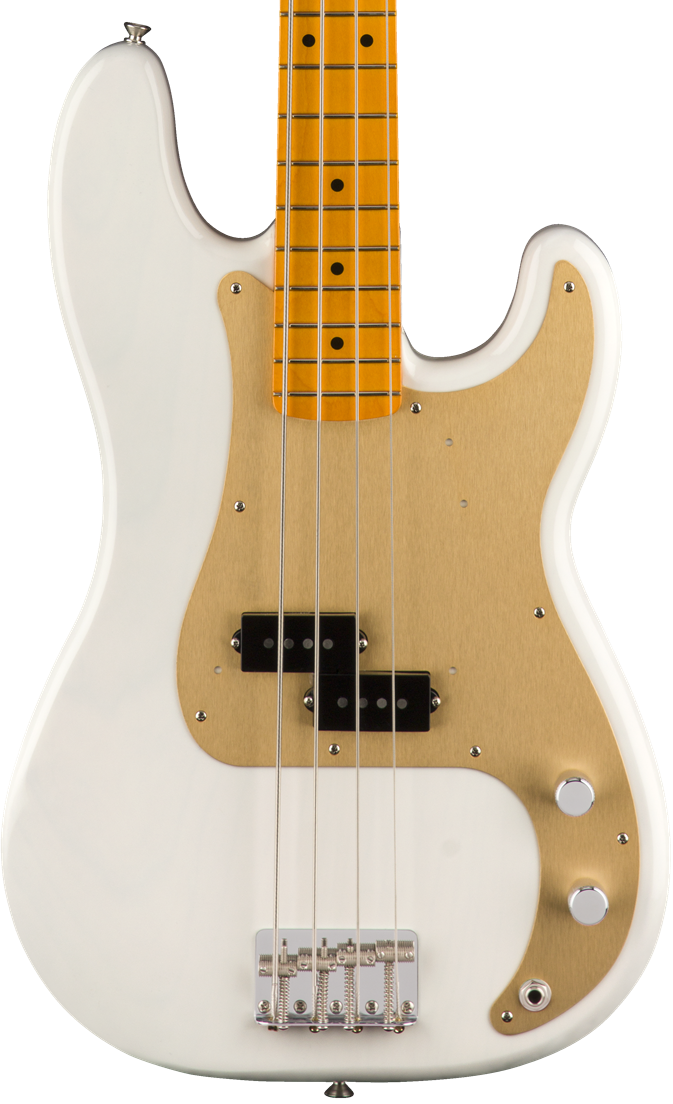 Fender Classic Series 50's Precision Bass Lacquer - White Blonde with Maple Fingerboard