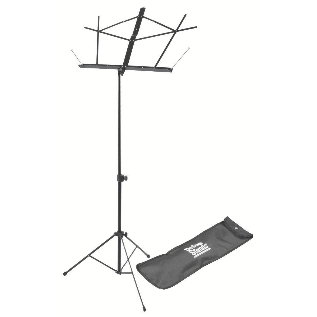 On Stage Compact Sheet Music Stand (Black w/ Bag)