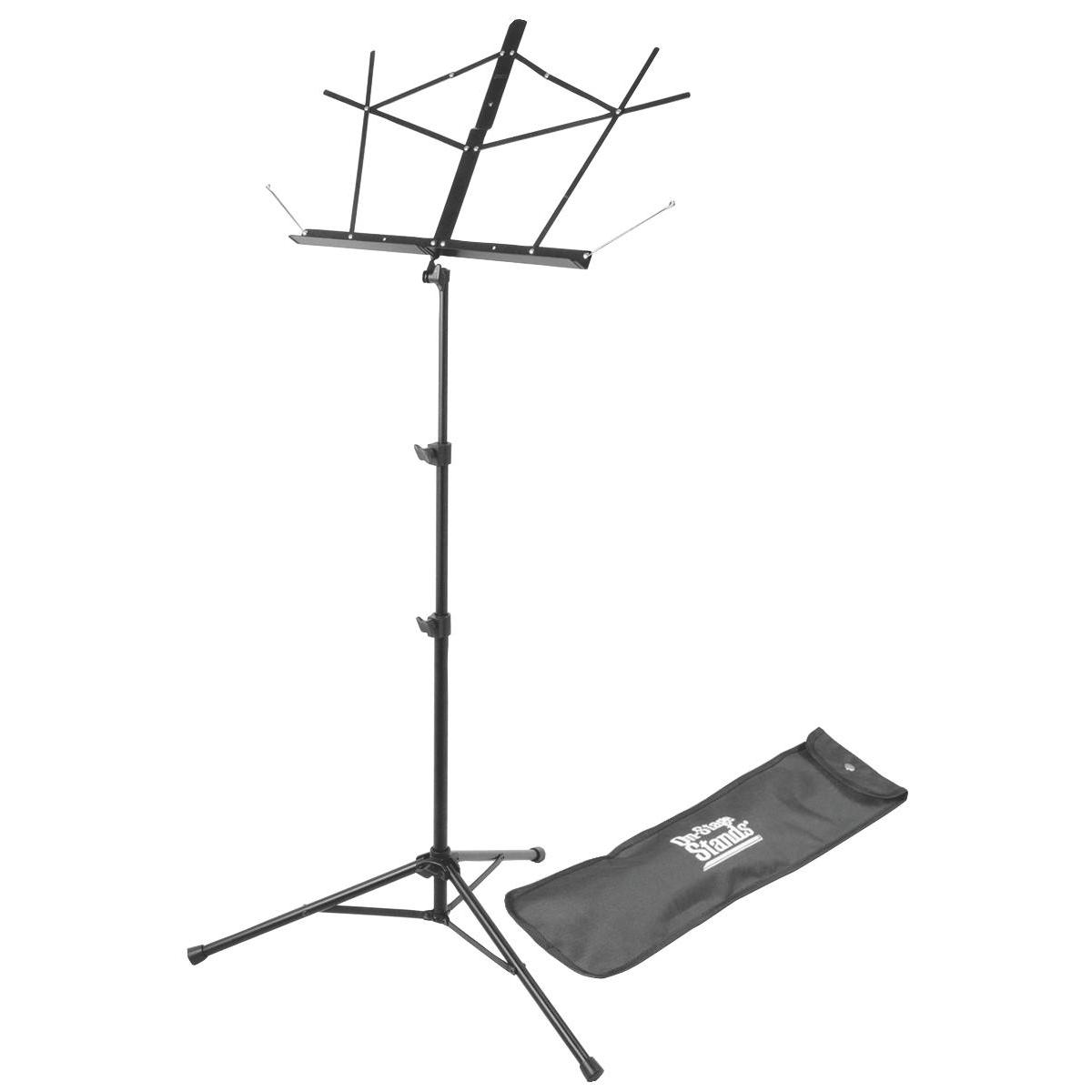 On Stage Tripod Base Sheet Music Stand (Black w/ Bag)
