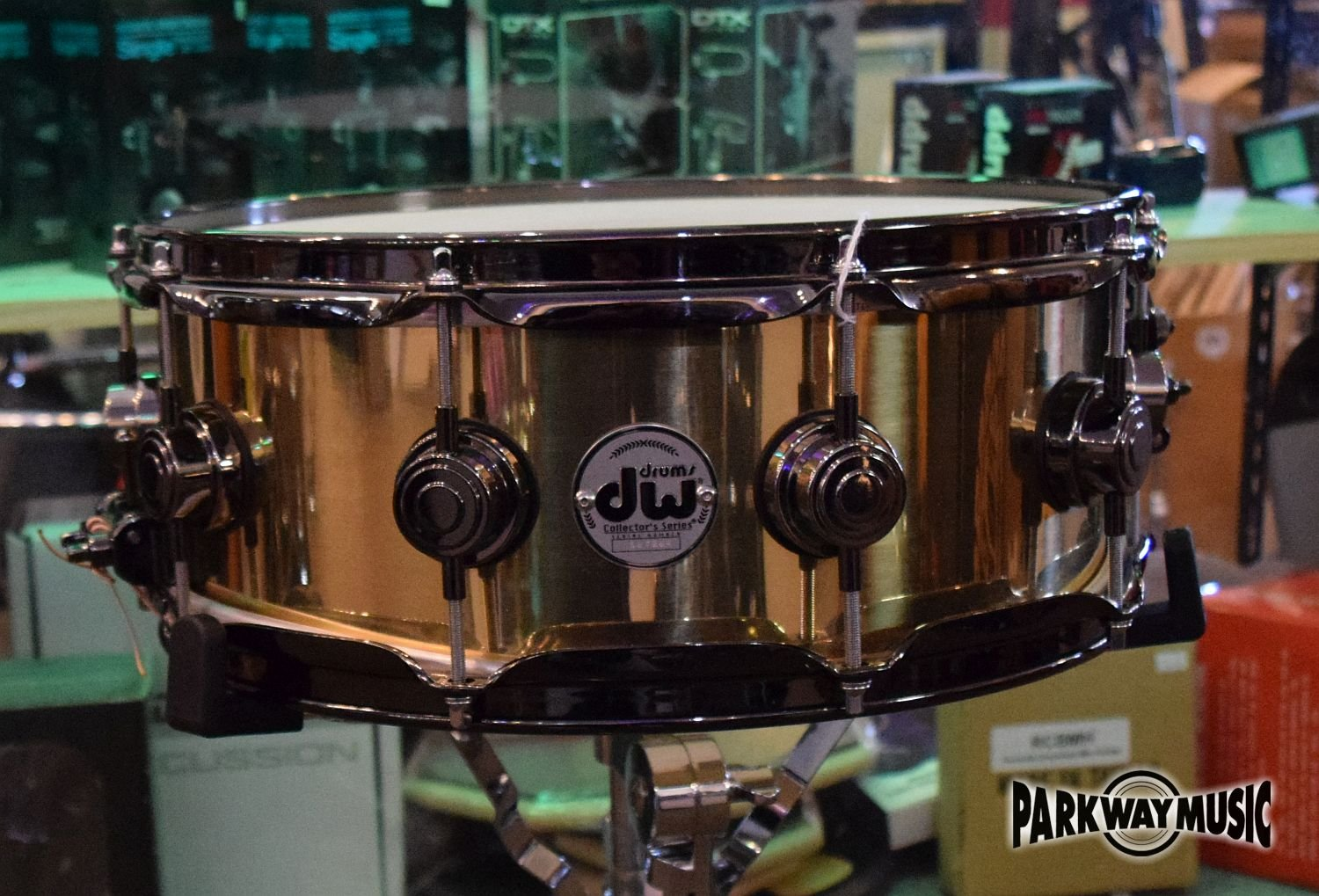 DW Collectors Series 5.5 X 14  Brass Snare Drum (USED) - HOLD