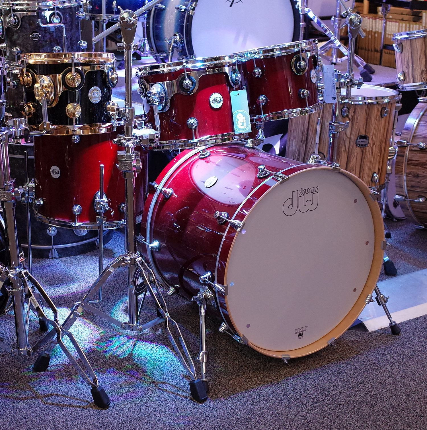 DW Design Series 5pc Shell Pack - Cherry Stain