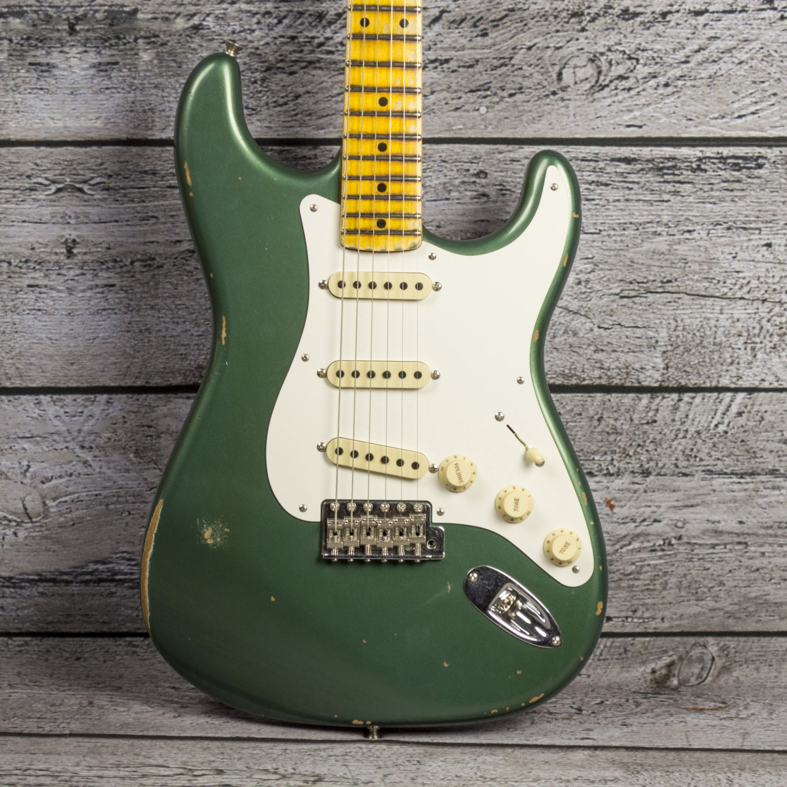Fender Custom Shop 1956 Stratocaster Relic - Aged Sherwood Green Metallic