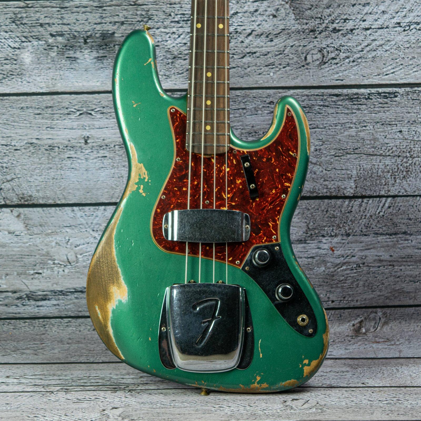 Fender Custom Shop 1960 Jazz Bass Heavy Relic - Sherwood Green