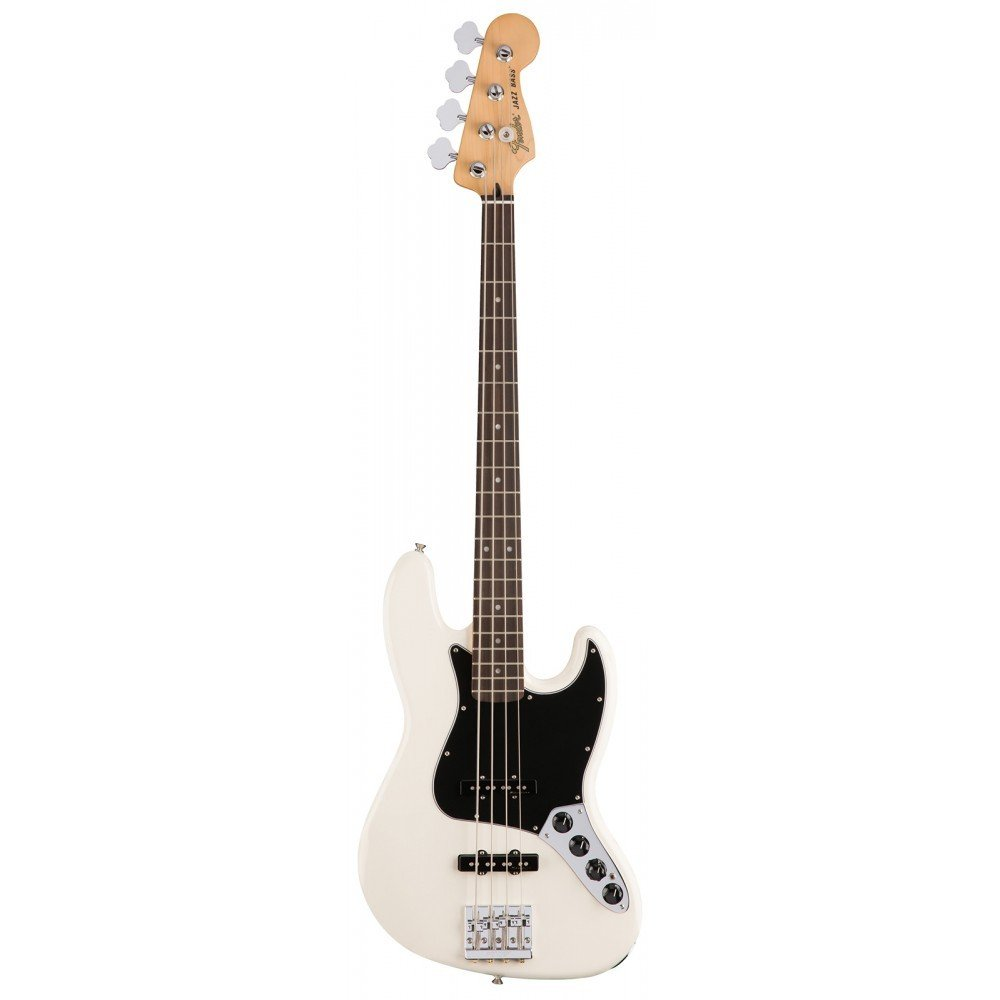 Fender Deluxe Active Jazz Bass - Olympic White with Pau Ferro Fingerboard