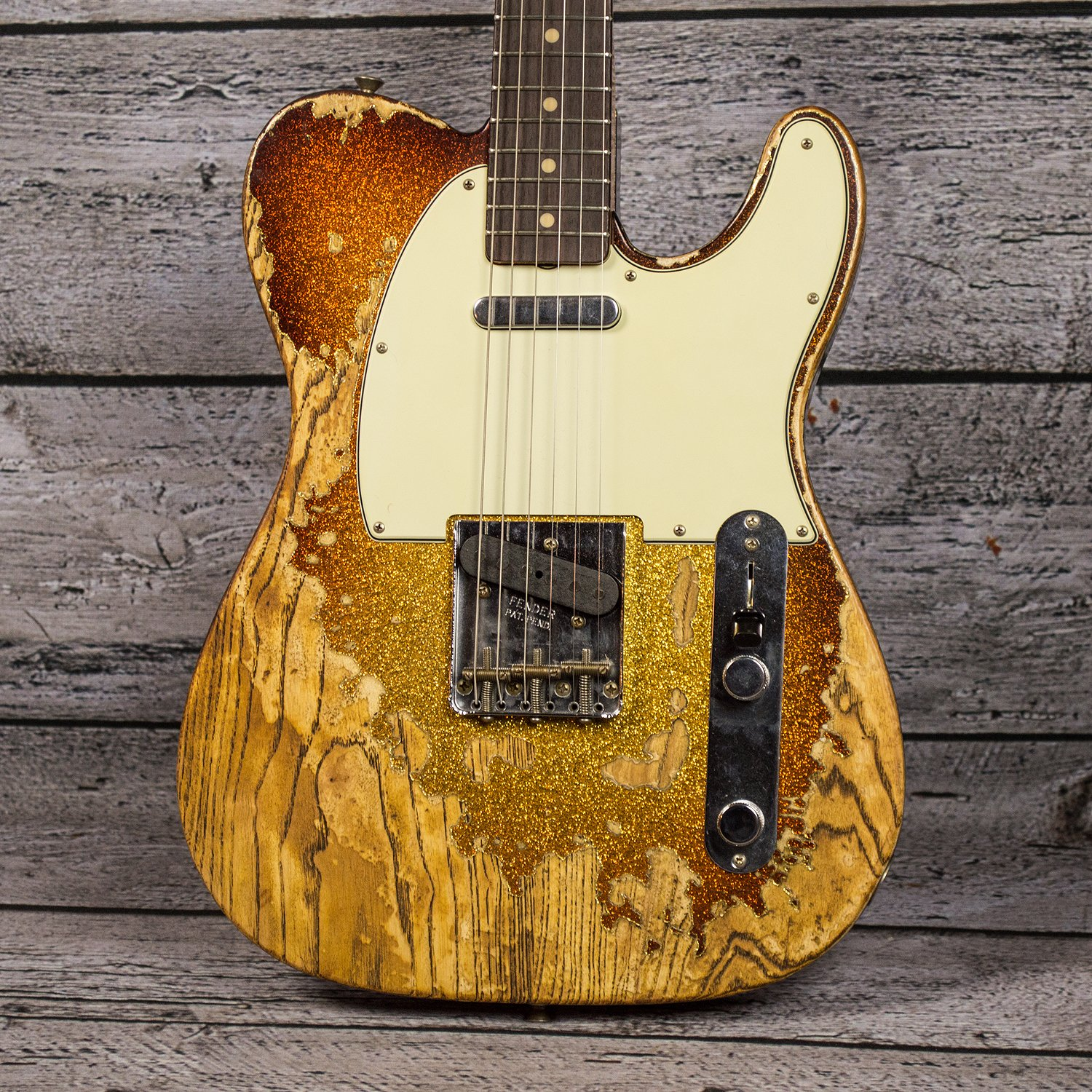 Fender Ltd Ed 1963 Telecaster Super Heavy Relic 3-Tone Sunburst Sparkle