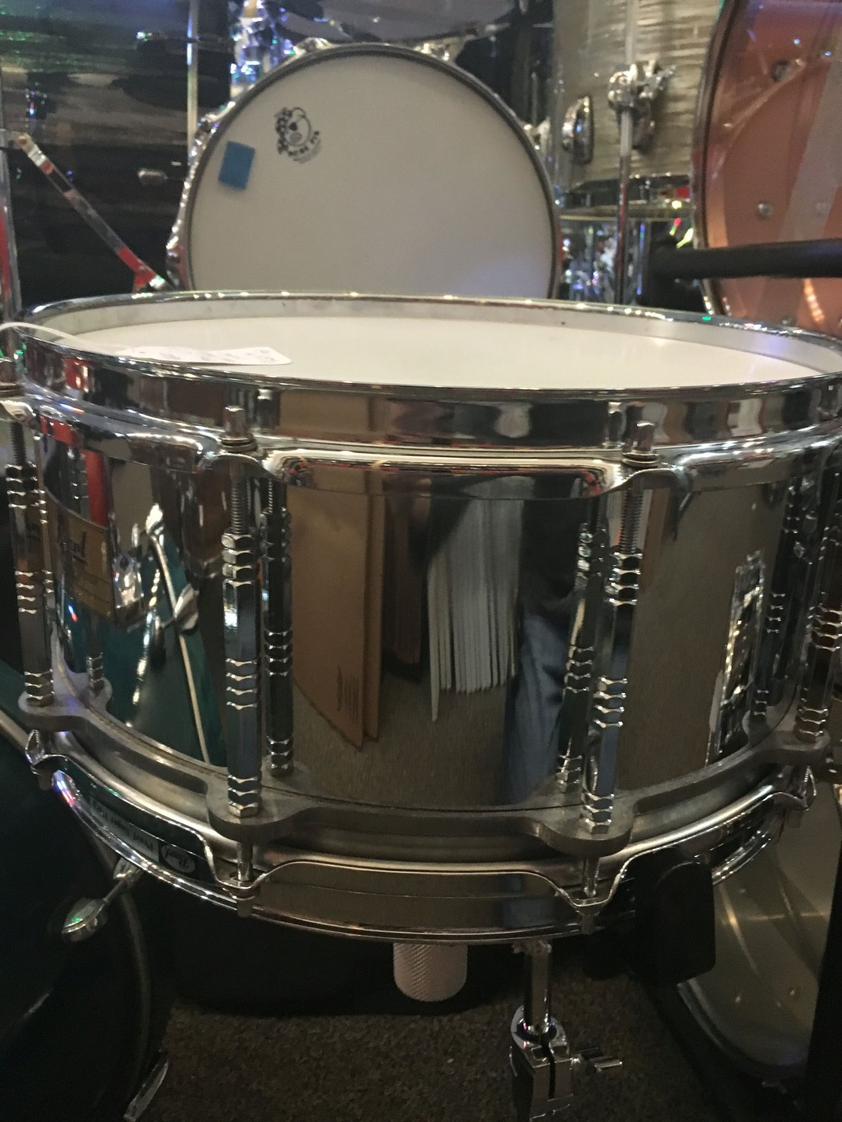 Pearl  6 x 14 Steel Shell Free floating snare (USED)