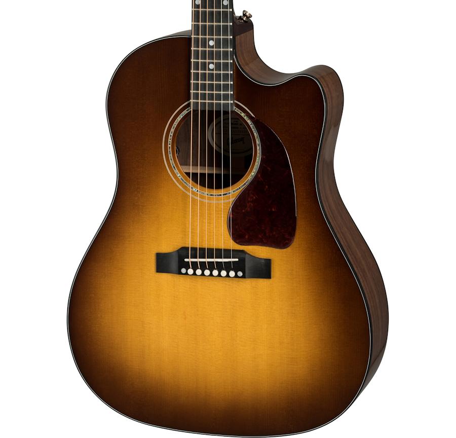 Gibson J-45 Walnut AG - Walnut Burst w/ Case