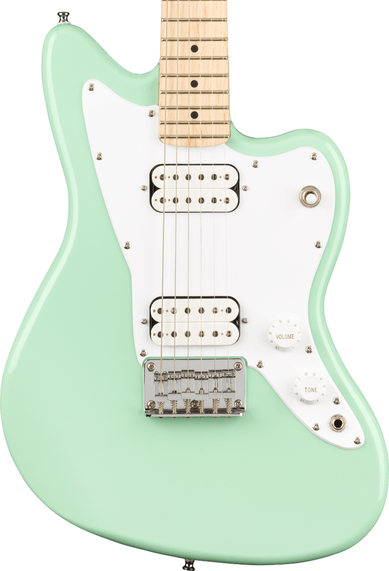 Squier Mini Jazzmaster HH - Maple Fingerboard, Surf Green