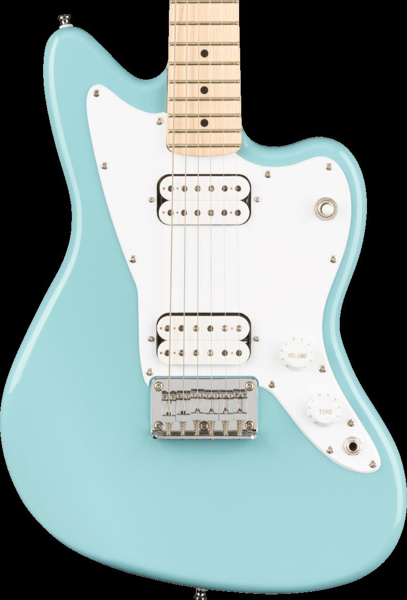 Squier Mini Jazzmaster HH - Maple Fingerboard, Daphne Blue
