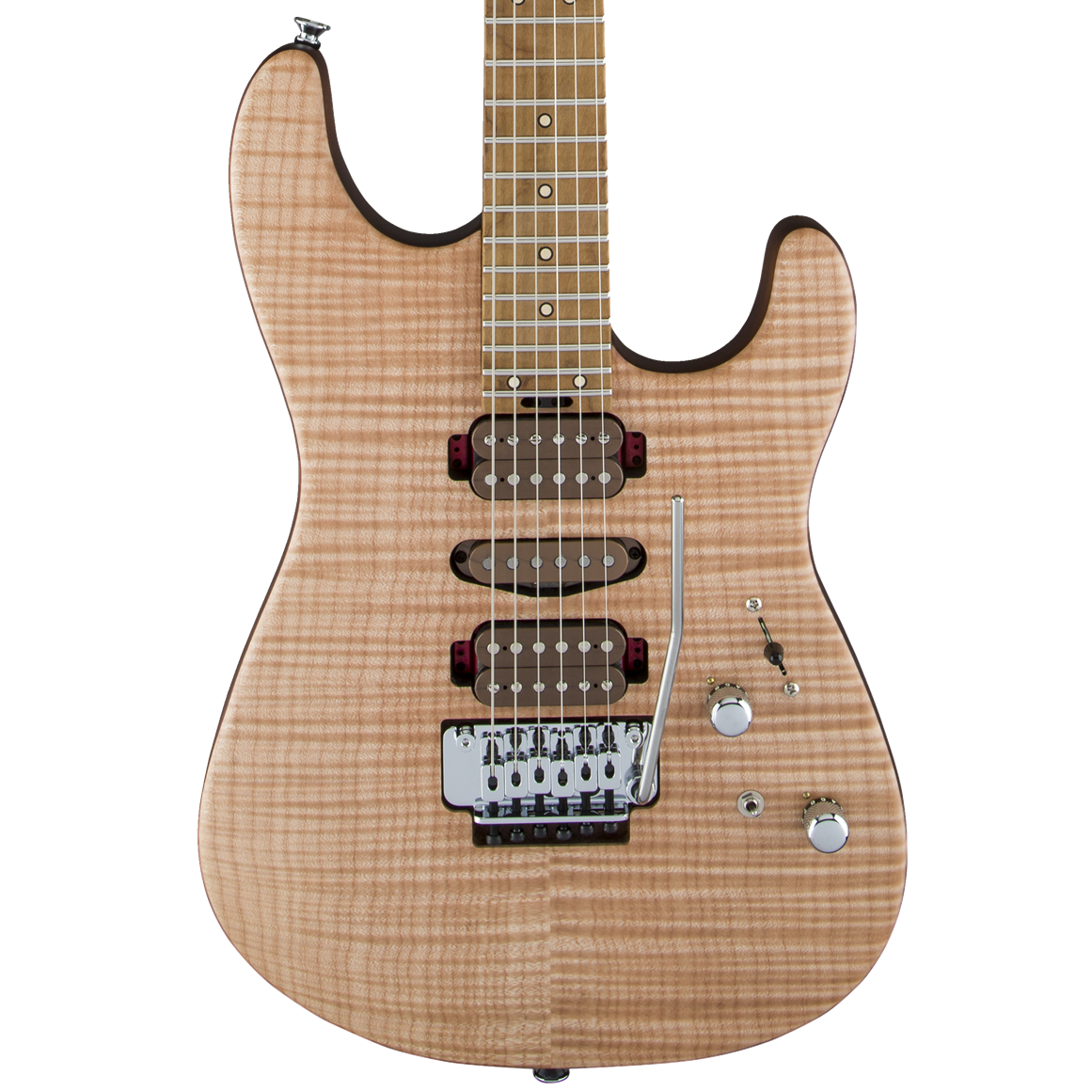 Charvel Guthrie Govan Signature HSH Flame Maple - Caramelized Flame Maple Fingerboard, Natural