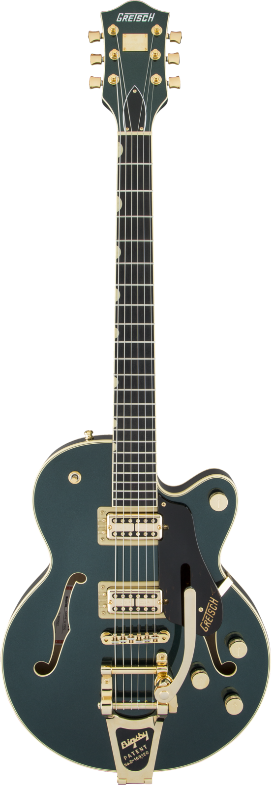 Gretsch G6659TG Players Edition Broadkaster Jr. - Ebony Fingerboard, Cadillac Green