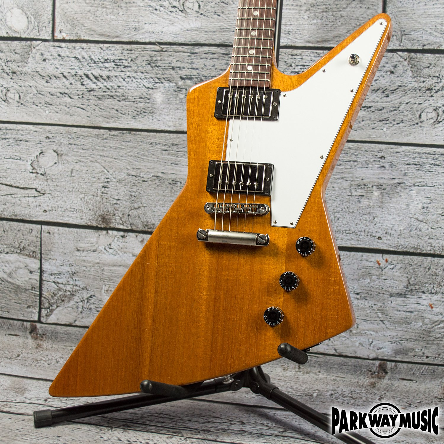 Used And Vintage Electric Gibson Rd Artist Guitar Explorer Natural