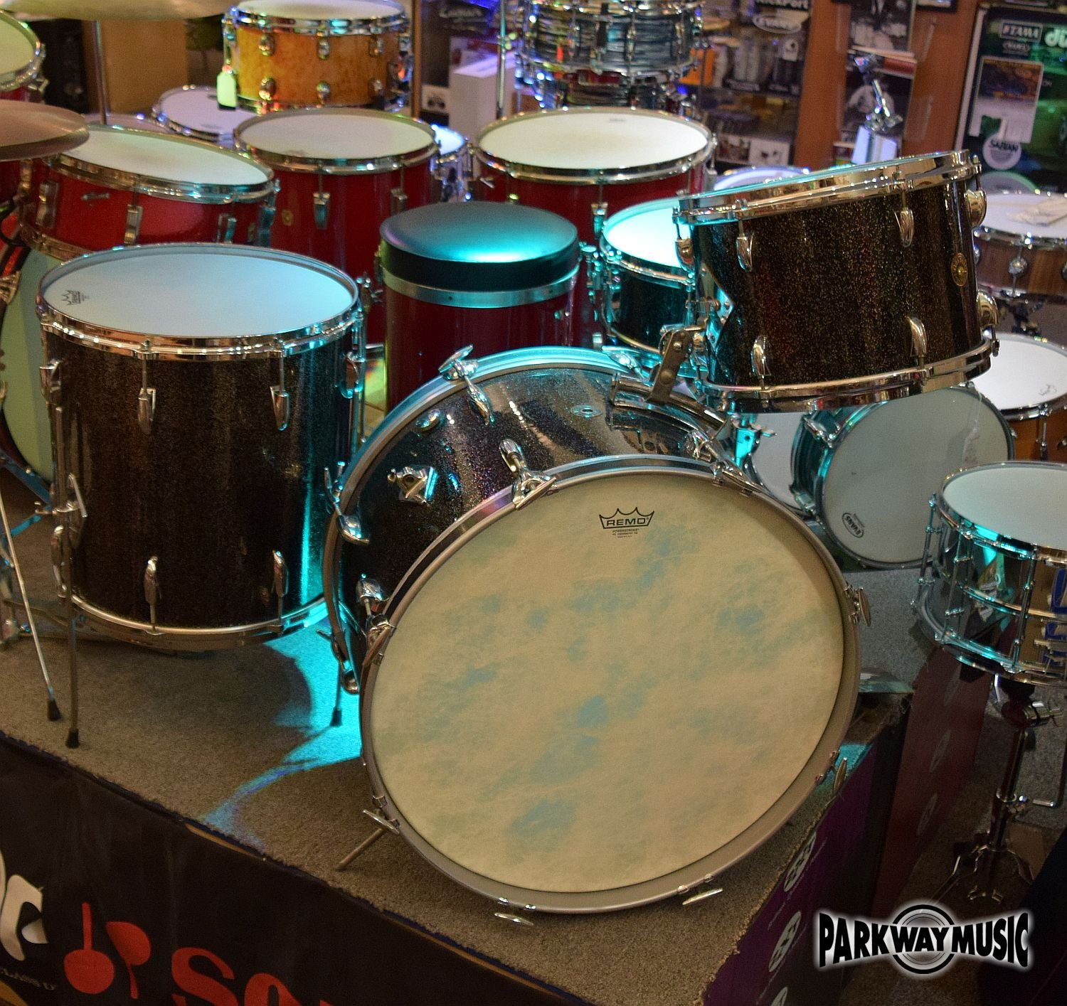 Gretsch Broadkaster Anniversary Sparkle 1958 Vintage 4pc Drum Set (USED) - SOLD