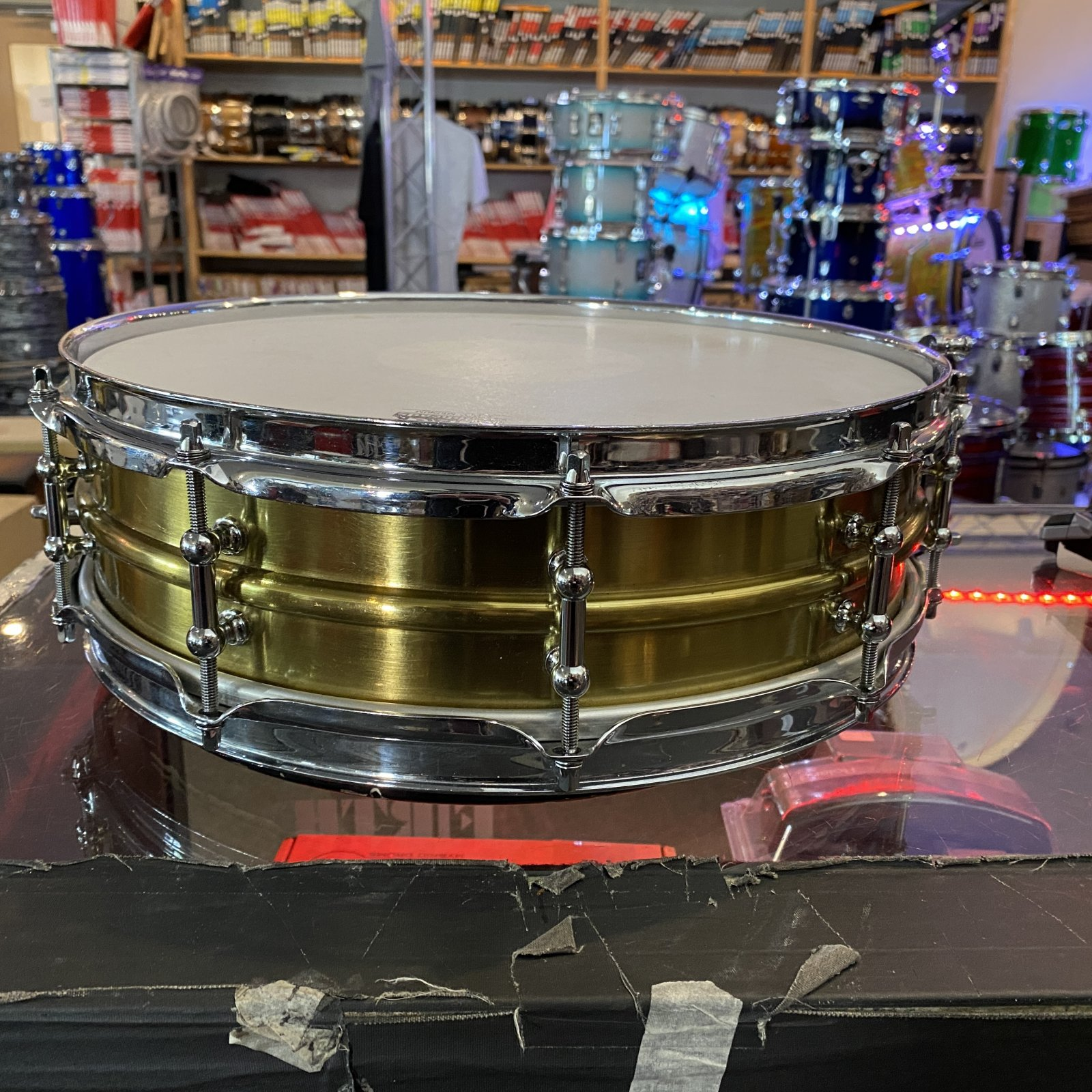1920s Ludwig Brass Shell Snare Drum (USED)