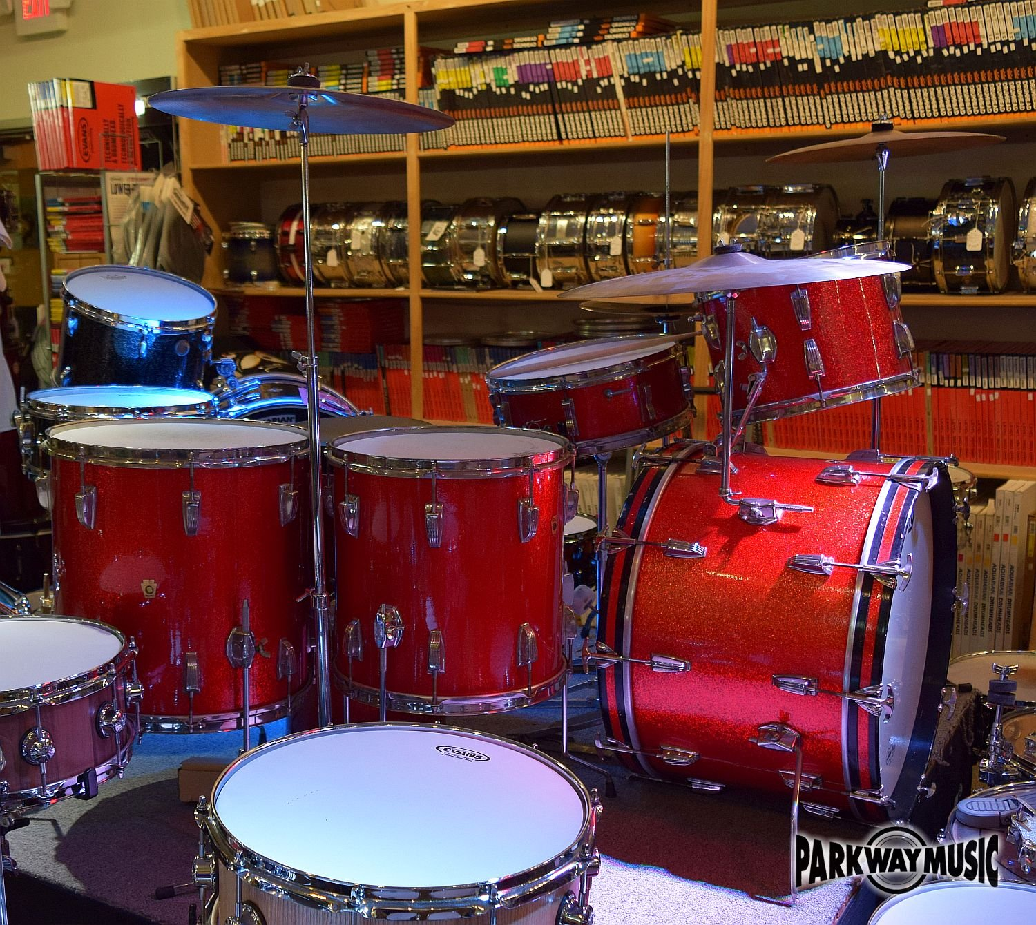 Ludwig 4 Pc. Drum Set 1960s Vintage w/ 70s Zildjian Cymbals (USED)  SOLD