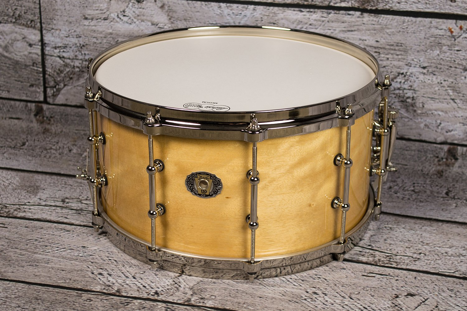 Ludwig 110th Anniversary Classic Maple Exotic Avodire Snare Drum 7x14