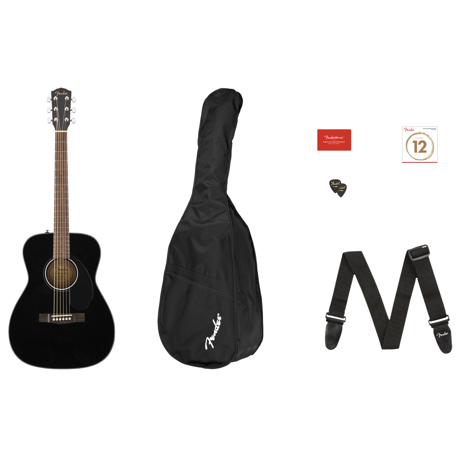 Fender CC-60S Concert Pack V2 - Black
