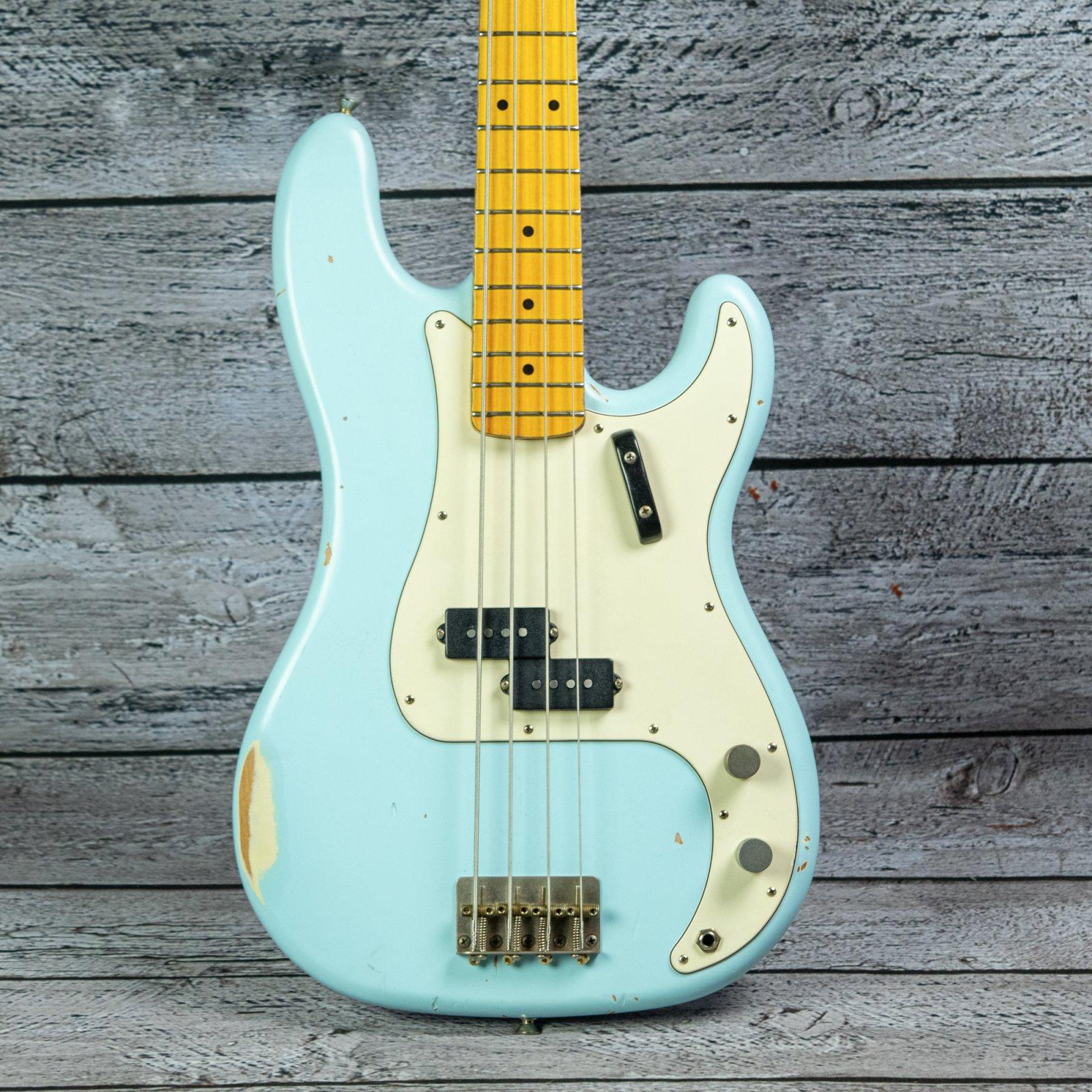 Nash Guitars PB-57MH Bass - Maple Fingerboard, Sonic Blue