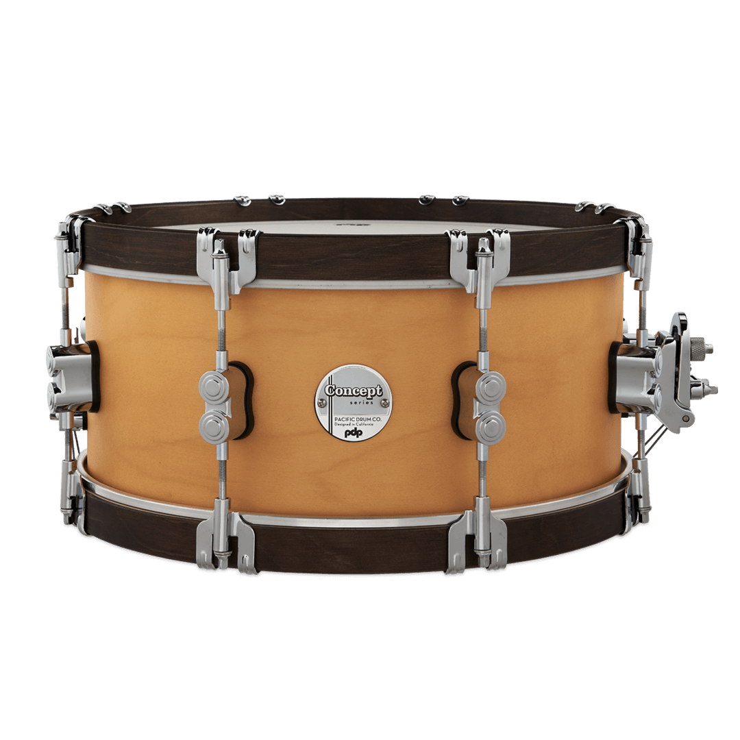 pdp Concept Classic Snare - 6.5x14 - Natural/Walnut Hoops