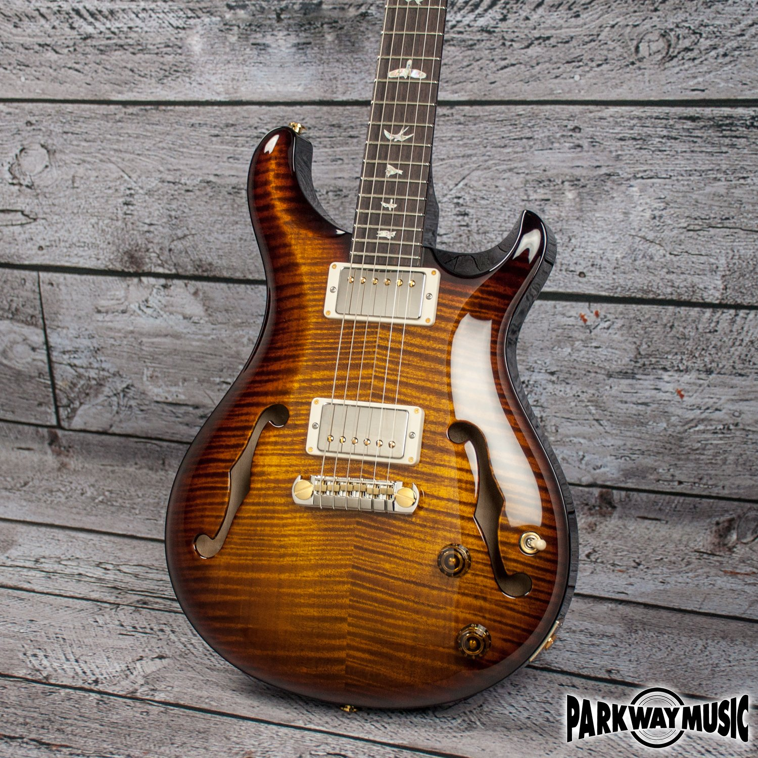 PRS Hollowbody II Black Gold Burst