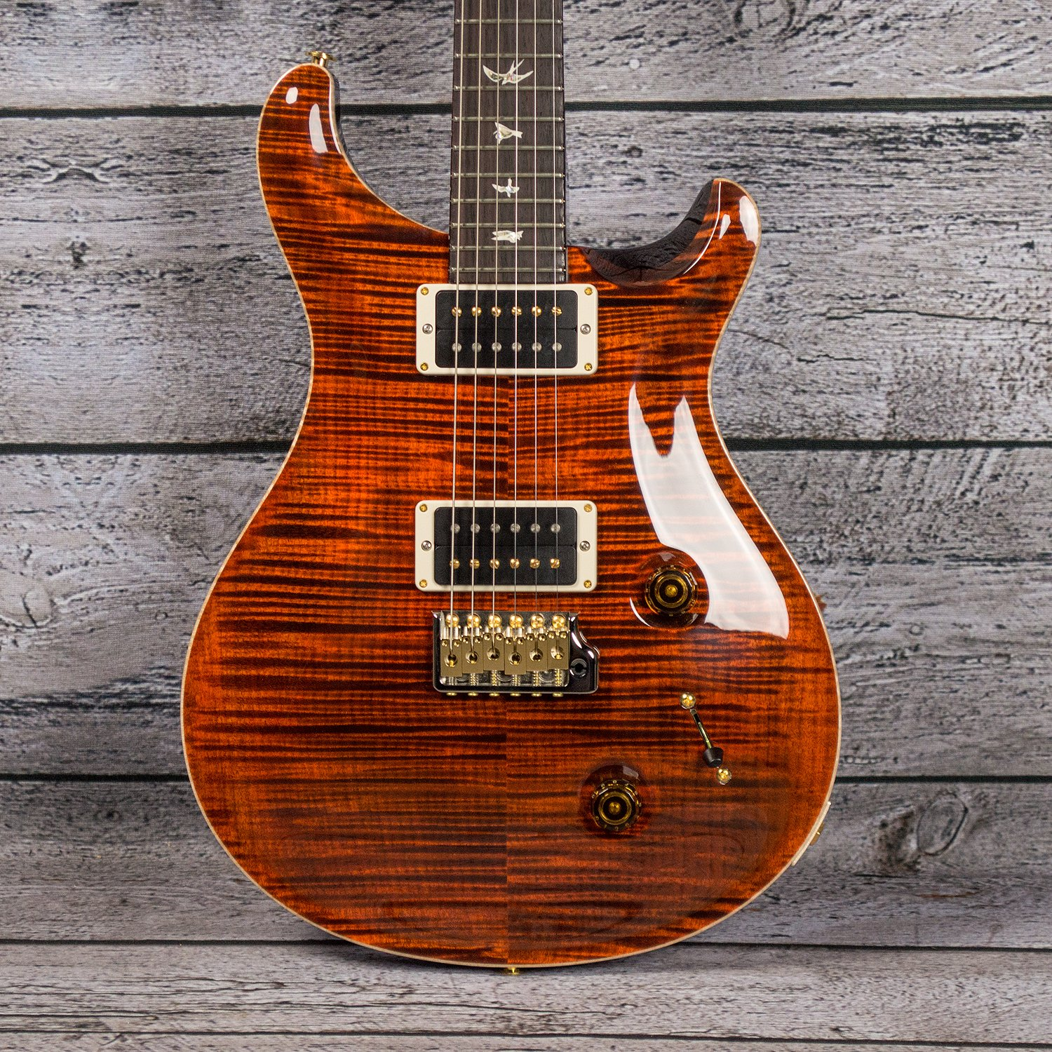 PRS Custom 22 10-Top Orange Tiger