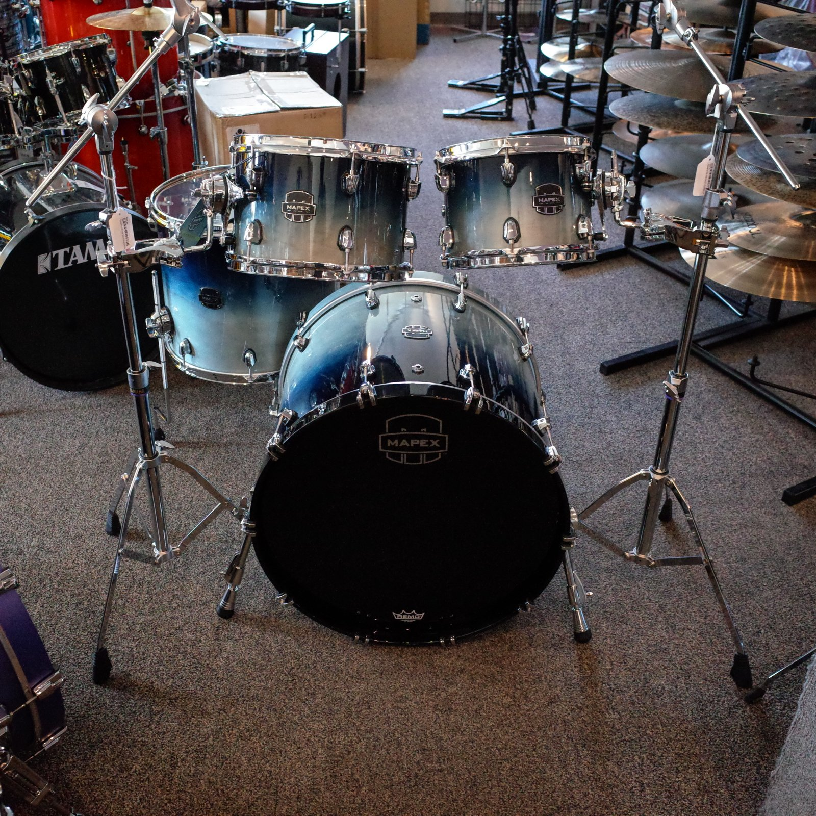 Mapex Saturn Rock 4 Piece Shell Pack - Teal Blue Fade