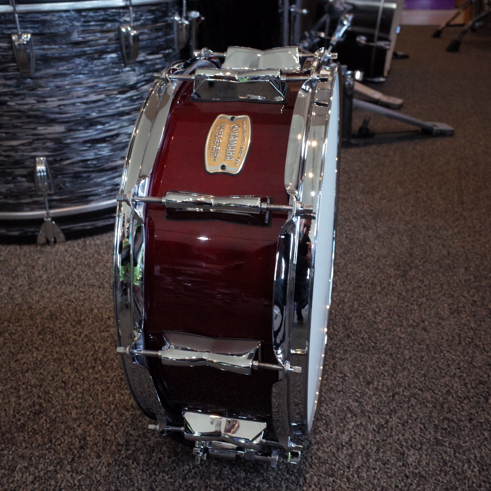 Yamaha Stage Custom Snare - 14x5.5 - Cranberry Red
