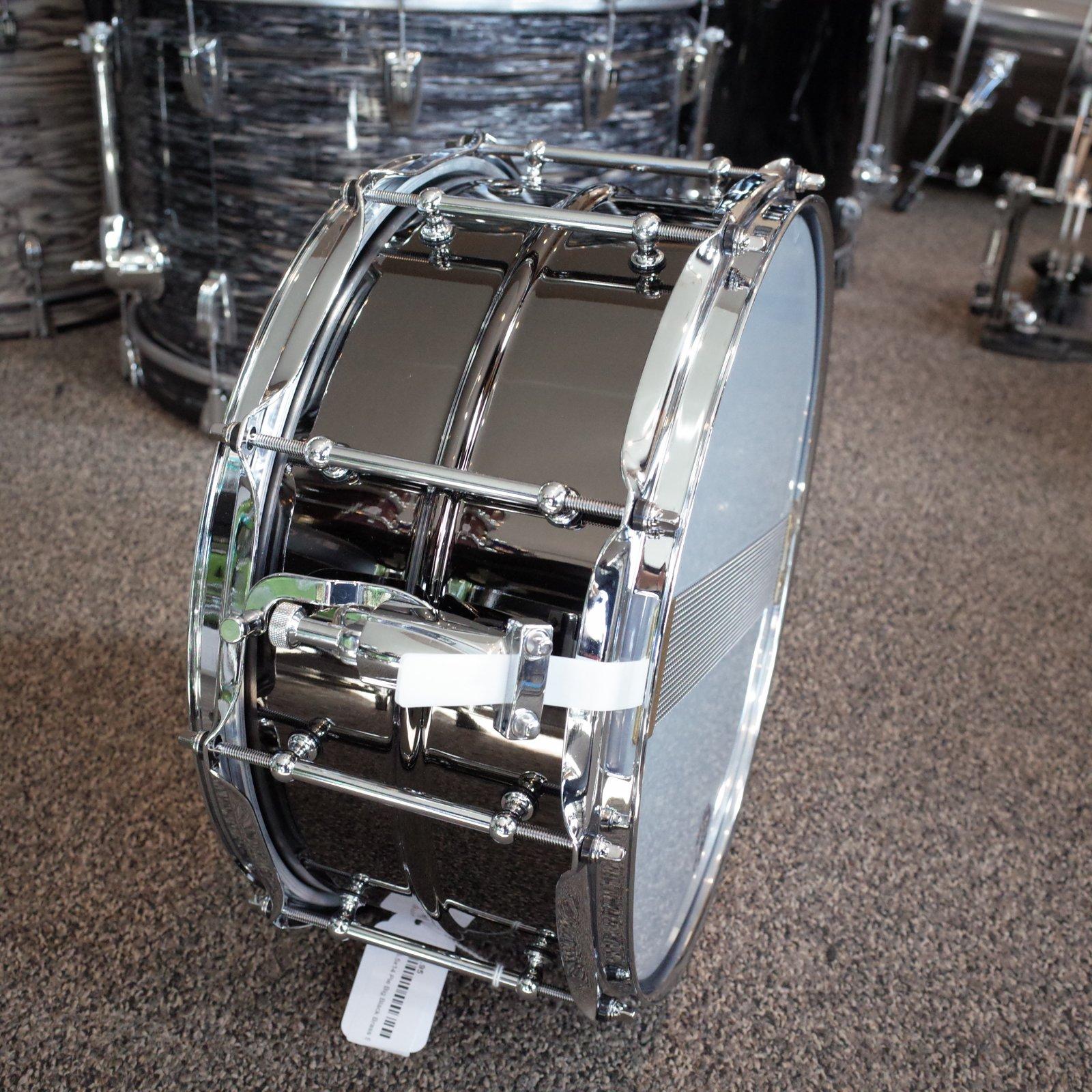Pork 6.5x14 Pie Big Black Brass Snare Drum (USED)