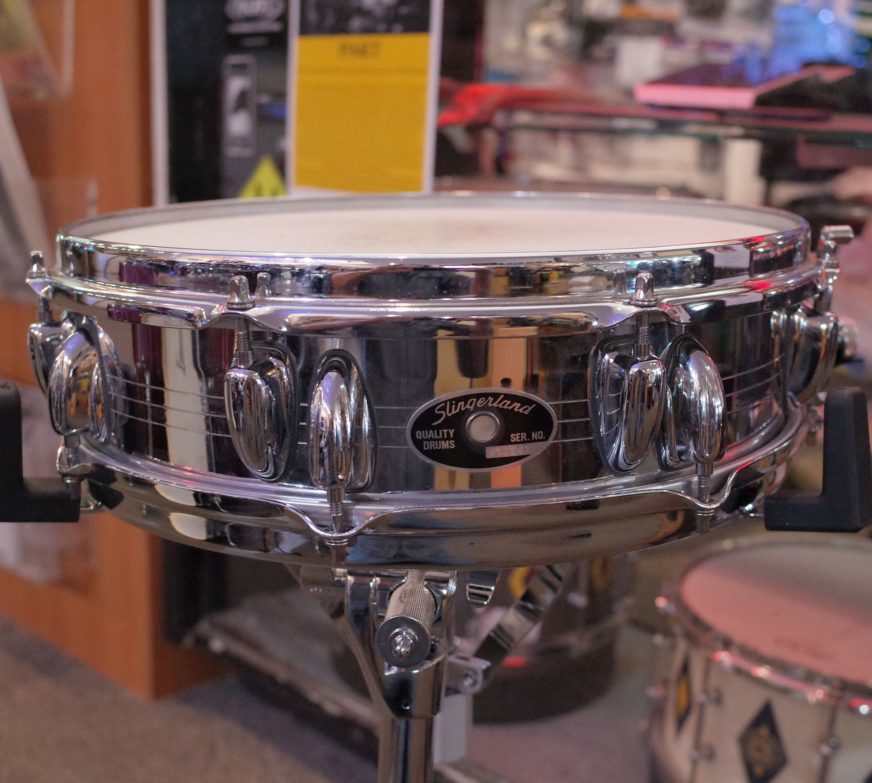 Slingerland Piccolo 4 x 14 Chrome Over Steel Snare Drum